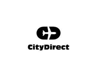 CityDirect by Logomotive #logo #black and white #idea #city direct