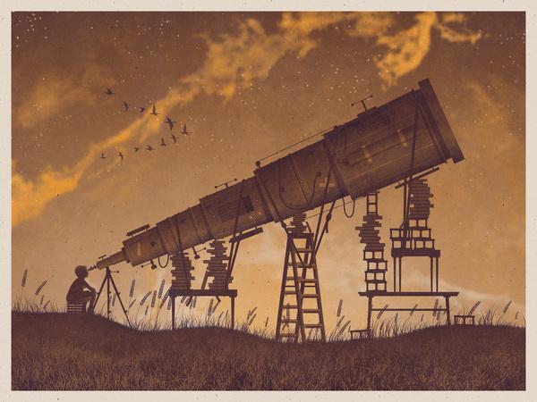 DKNG Studios #sepia #geese #telescope