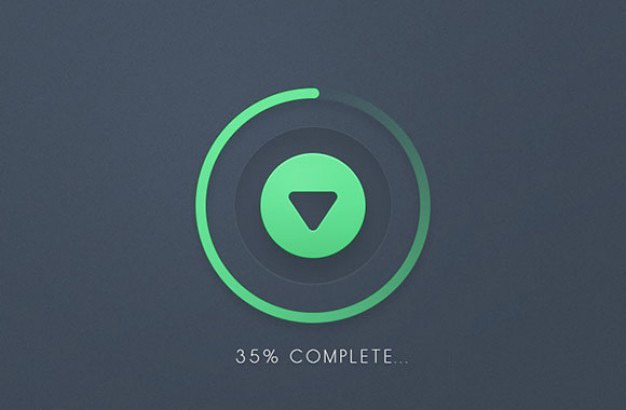 Progress round bar download button psd Free Psd. See more inspiration related to Button, Bar, Round, Elements, Ui, Psd, Progress bar, Progress, Ui elements, Download button, Horizontal and Freebie on Freepik.