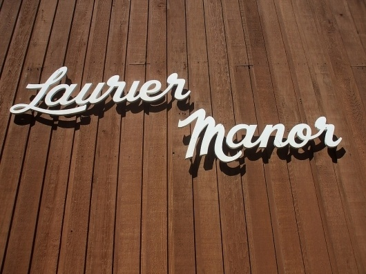 All sizes | Laurier Manor | Flickr - Photo Sharing! #50s #type #script
