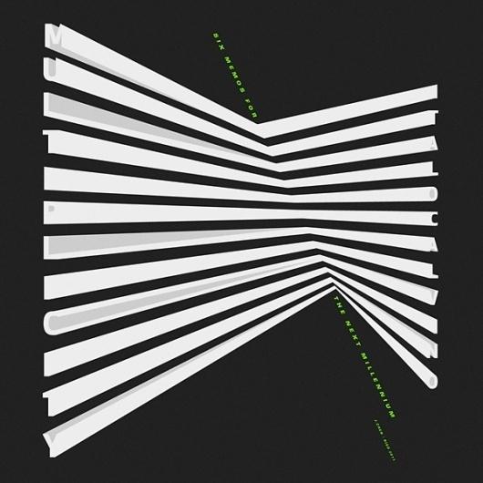 Justin Chen / 陳冠欣 / Graphic Design #abstract #geometry #white #black #calvino