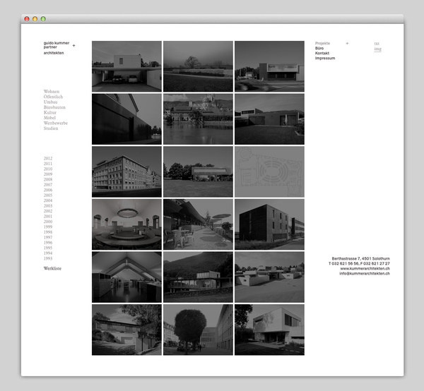 guido kummer + partner architekten #website #design #architecture #web
