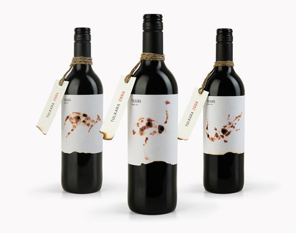 Australian shiraz wine label Tulkara #packaging #australia #design