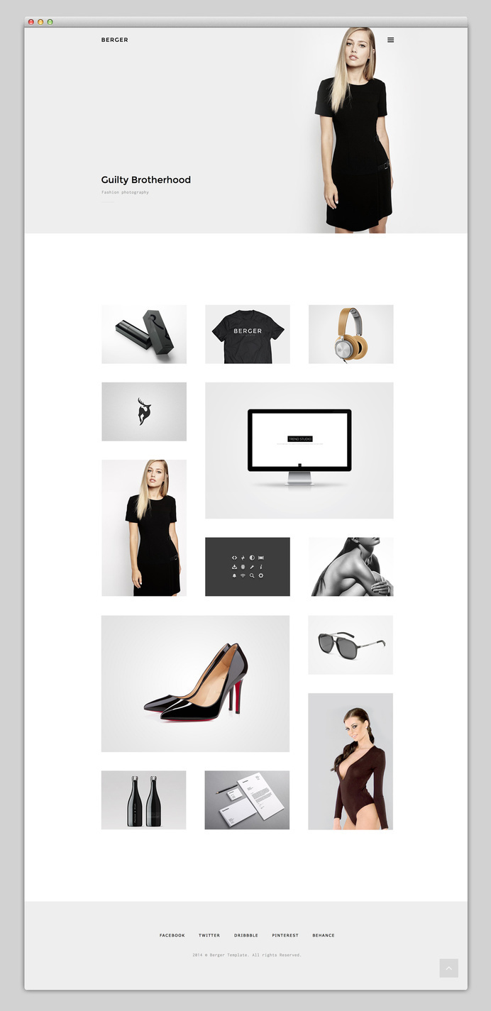Websites We Love — Berger #ux #design #ui #minimal #web