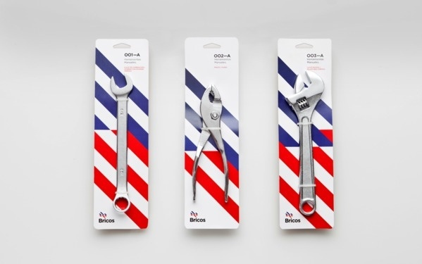 Bricos on the Behance Network #packaging #geometry #typography