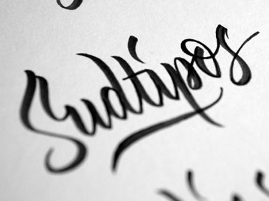 Eight Hour Day » Blog #dribble #font #scirpt #lettering #henric #sjosten