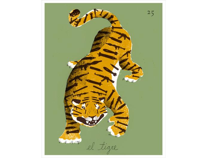 Project 3 - Justin Renteria Illustration #illustration #tiger #editorial