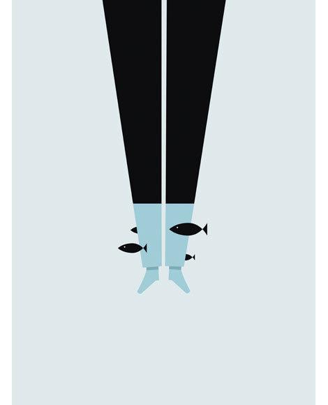grain edit · Paul Tebbott #illustration #fish