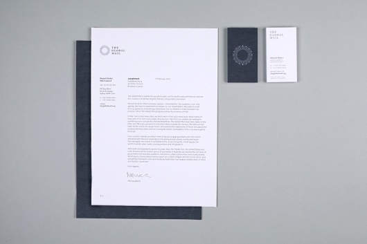 The Global Mail Identity - Aaron Gillett #white #global #the #simple #minimal #stationery #mail #grey