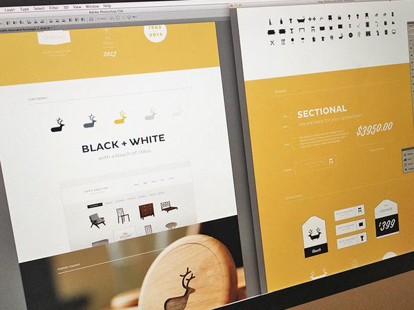 Web Portfolio #layout #yellow #web