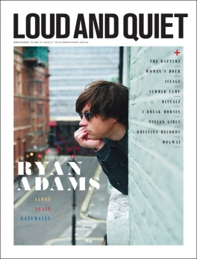 INSIDE OUR CURRENT ISSUE « New music, features, reviews, news and free mp3s – loudandquiet.com #typograpghy #print #cover #logo #magazine