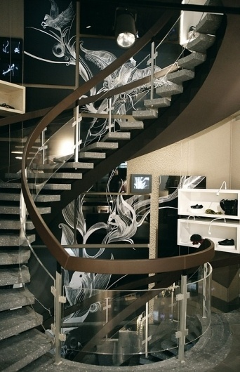 Hugo Boss Orange Concept Store Mannheim #staircase #mannheim #in #design #boss #germany #store #illustration #made #hugo