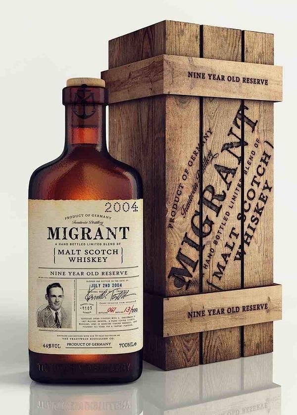 migrant #drink #whisky #vintage #label