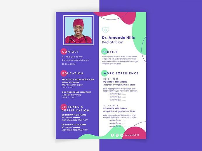 Pediatrician Resume Template