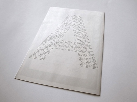 Graphic-ExchanGE - a selection of graphic projects #type #maze