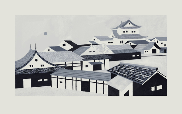 THE ROOFTOPS OF YOKOHAMA - Chris Turnham #chris #turnham #illustration #drawn #hand