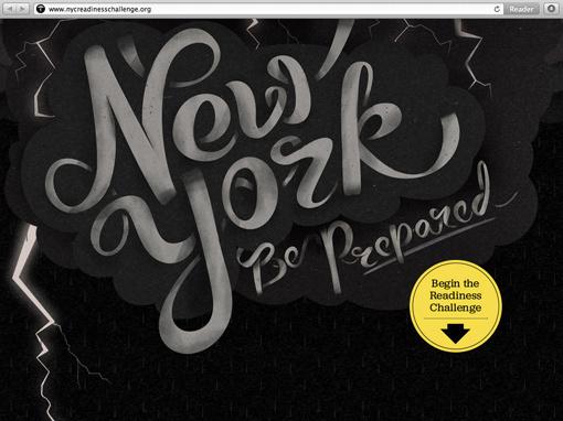 I Shot Him: NYC Readiness Challenge Website #typography