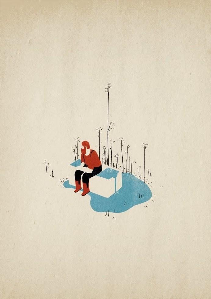 Le Meurtre teaser on Behance #illustration