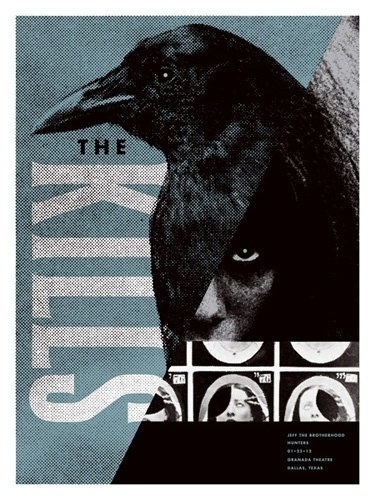 The Kills concert poster by Aesthetic Apparatus - New Arrivals - Gallery