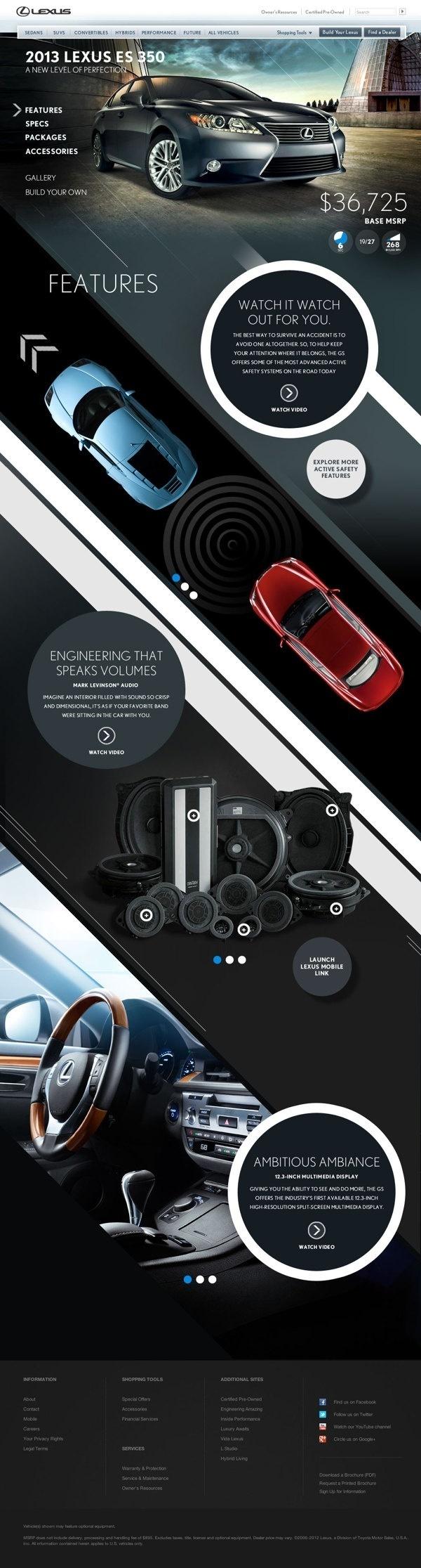 Lexus HTML5 Parallax by bil Chamberlin #interactive #ux #design #& #ui #digital