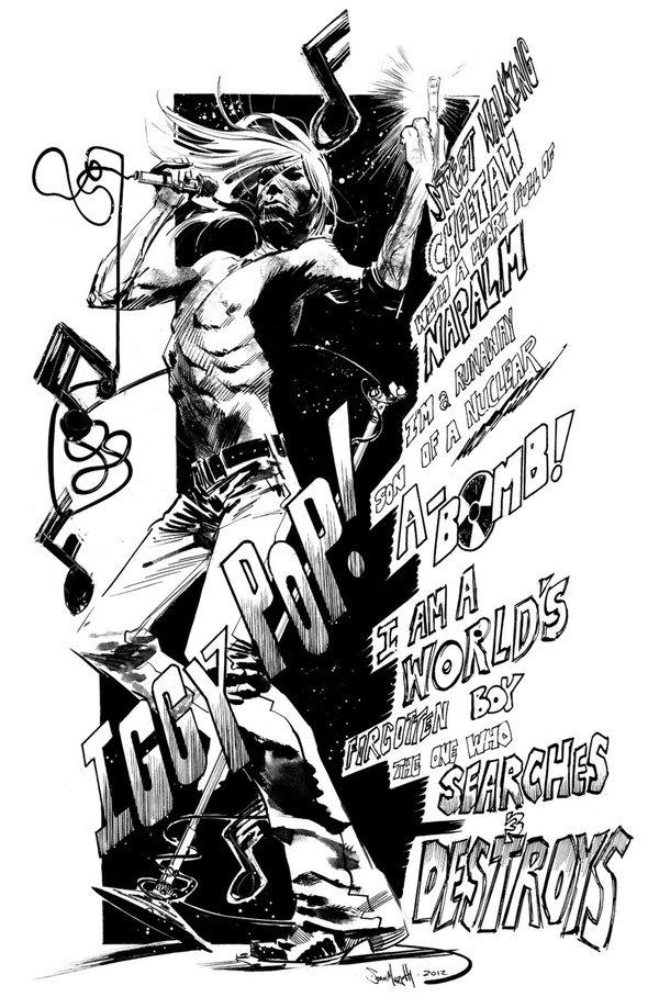 Iggy Pop commission by seangordonmurphy on deviantART #iggy #pop