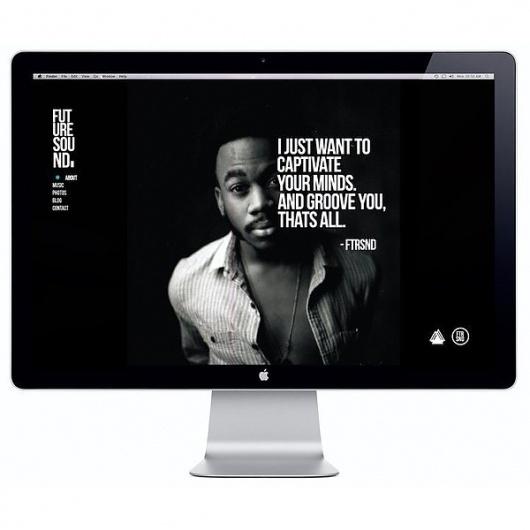 FTR/SND WEBSITE on the Behance Network #flevo #rosco #design #concept #art #layout #web #typography