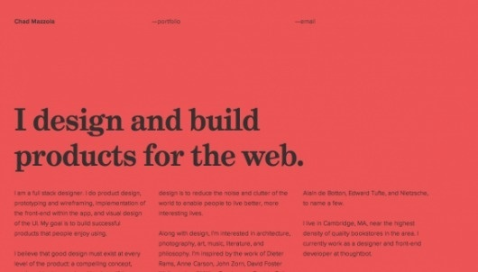 Chad Mazzola - Web design inspiration from siteInspire #website #mazzola #chad