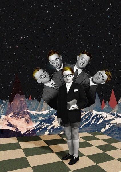 Confused #modern #surrealism #vintage #art #collage