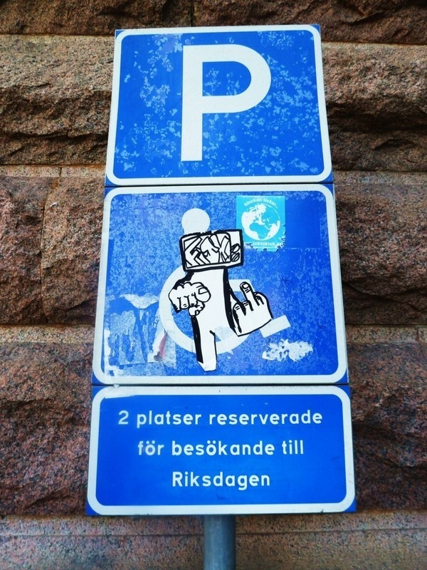 Stock Home 2011 on Behance #sweden #graffiti #sign #stockholm #art #street #finger #sticker #middle