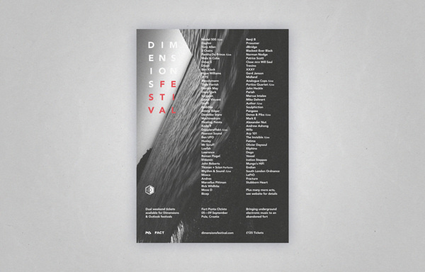 Dimensions Festival 2013 on Behance #type #print #poster