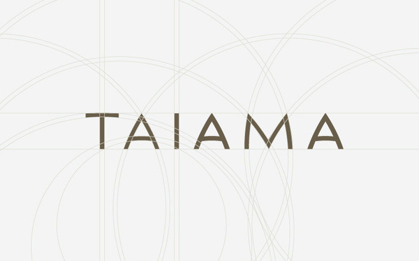 Corporate and brand identity Taiama on Behance #type #grid