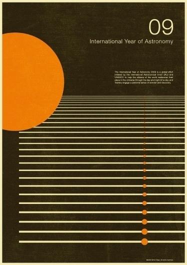 excites | Graphic Designer | Simon C Page #year #print #astronomy #graphic #poster