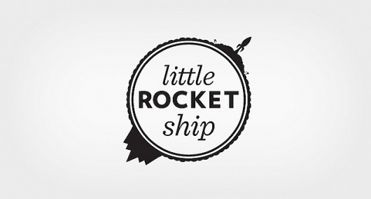 Little Rocket Ship Logo | Flickr - Photo Sharing! #print #space #little #ship #rocket #art #logo #web #typography