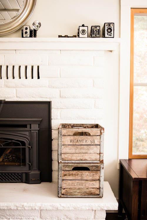 The Black Workshop #fireplace