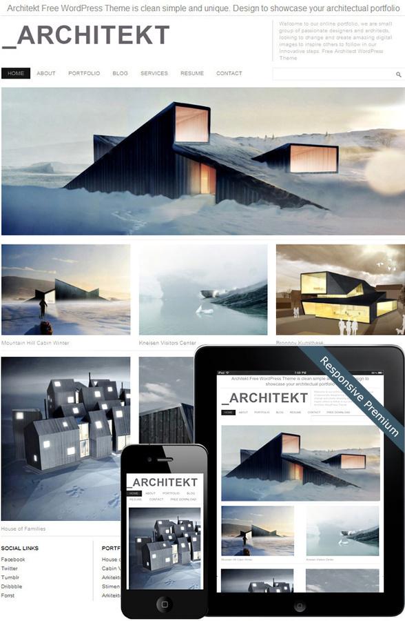 Architekt Theme #architekt #design #home #contemporary #architecture