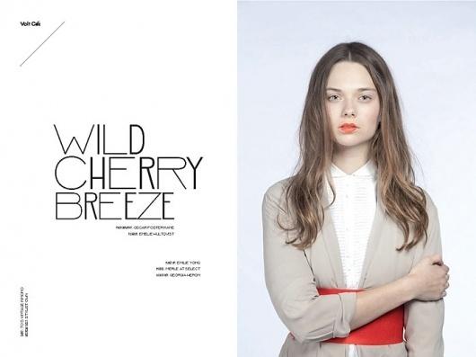 Wild Cherry Breeze | Volt Café | by Volt Magazine #beauty #design #graphic #volt #photography #art #fashion #layout #magazine #typography
