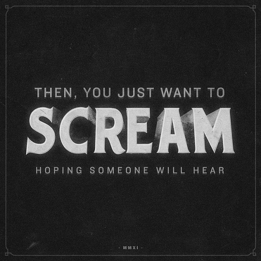 All sizes | Scream | Flickr - Photo Sharing! #film #classic #vintage #typography