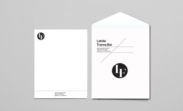 Lafolie Trance Bar. on Behance #branding #stationery