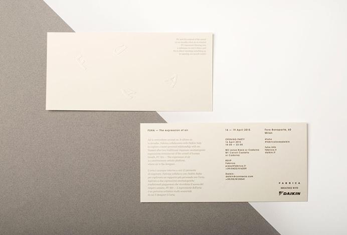 FUHA by Tomomi Maezawa #envelope #invitation #print