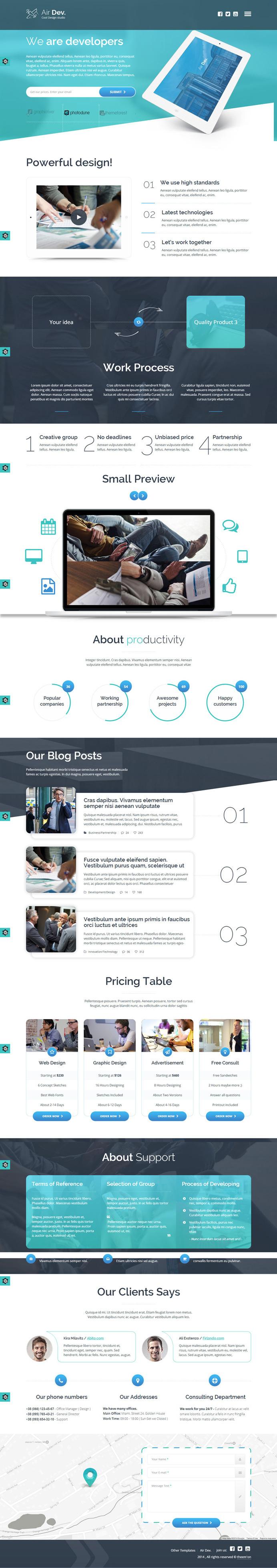 blue web design concept layout in web. Black Bedroom Furniture Sets. Home Design Ideas