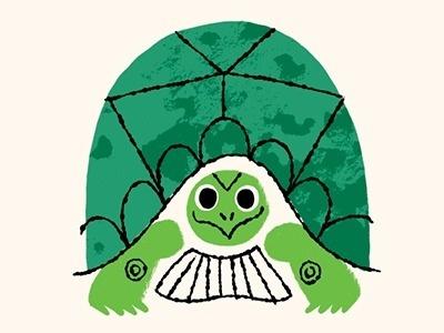 Backyard-turtle by Brad Woodard #turtle #illustration