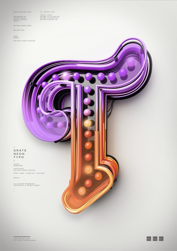 Typography 10. #typography #type #digital #letter #3d