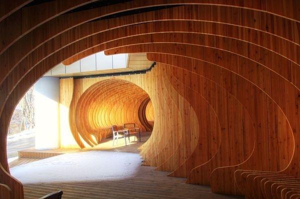 CJWHO ™ (Rest Hole in the University of Seoul, South Korea...) #design #art #architecture #wood #seoul