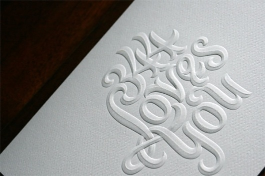 344 Loves You Card - FPO: For Print Only #letterpress #typography