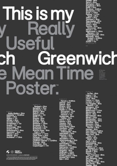 Print-Process / Product / Greenwich mean time #creative #print #mash #process