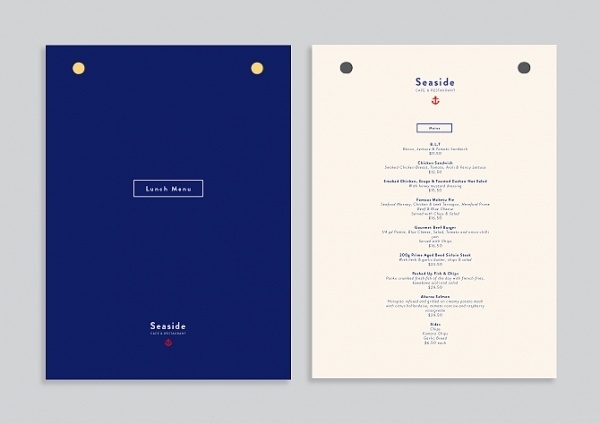 Sorbet #branding #menu #sorbet #sea #logo #anchor #nautical