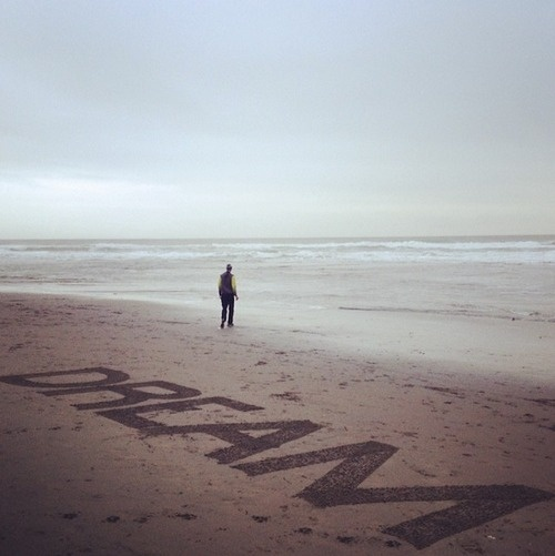 Beach Lettering By Wandering Stan #lettering #dream #sand #type #beach #typography