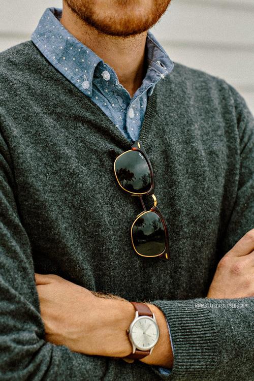 November 15, 2013.Sweater: 100% Cashmere Uniqlo $19 (Buffalo Exchange) (similar)Shirt:Â Forever 21Â $24 (similar)Jeans:Â American Eagl #stayclassic #menswear
