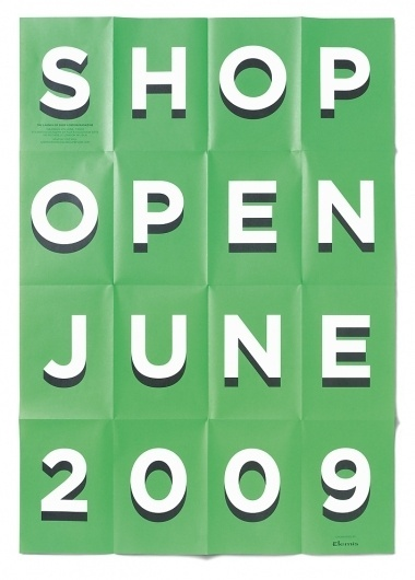 SHOP Summer Party 2009 « Studio8 Design #type #poster