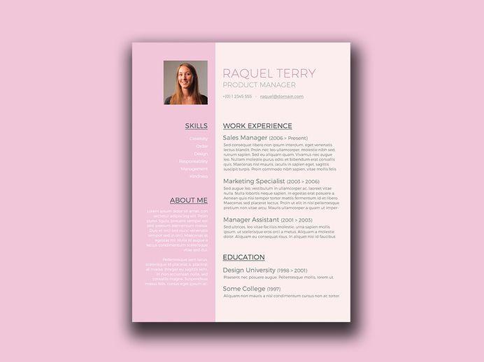 Free Feminine Resume Template in Word Format